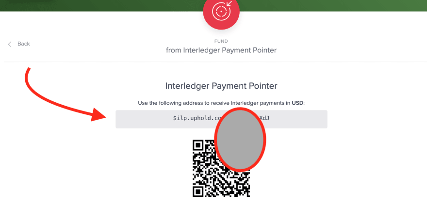 Uphold payment pointer