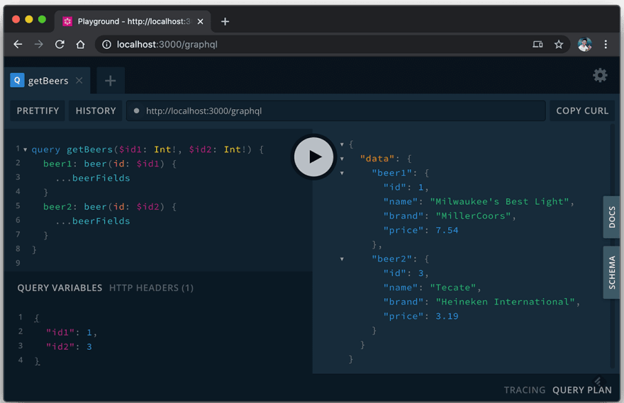Fragment's query example