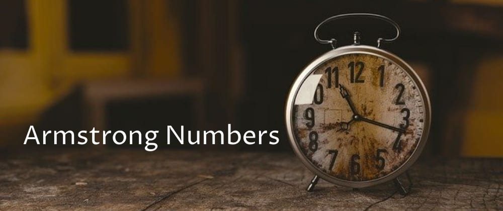 Cover image for Check for Armstrong Number