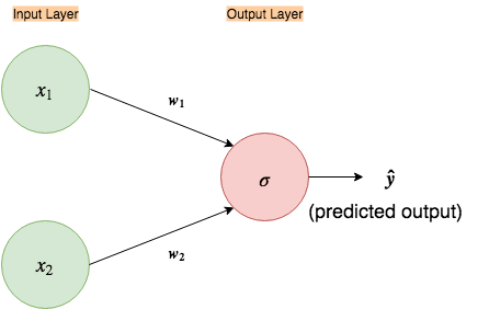 Fig 1. Simple input-output only neural network
