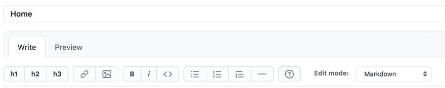 A rich-text editor taken from the GitHub website.