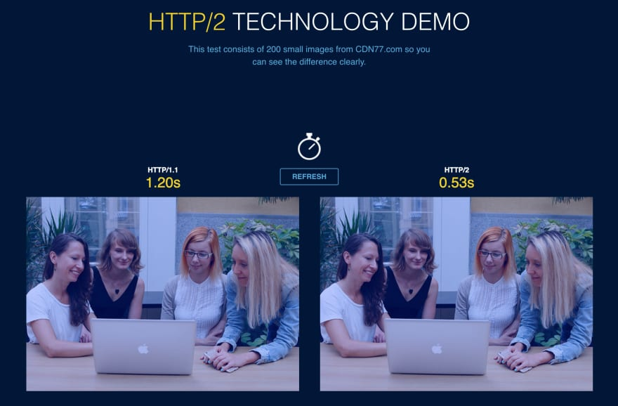 Demo HTTP/2 and HTTP/1