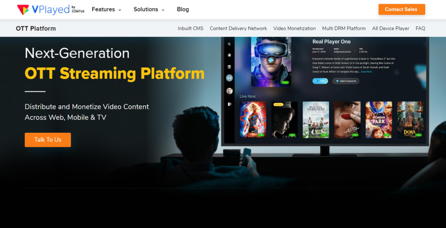 VPlayed OTT TV App Platform