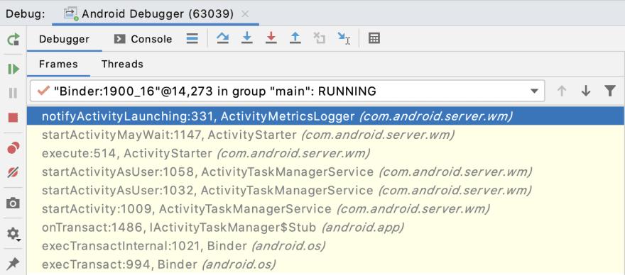 ActivityMetricsLogger.notifyActivityLaunching()