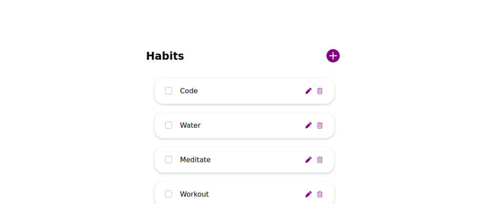 Cover image for Day 19: Add Habits function