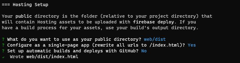 Firebase Hosting setup