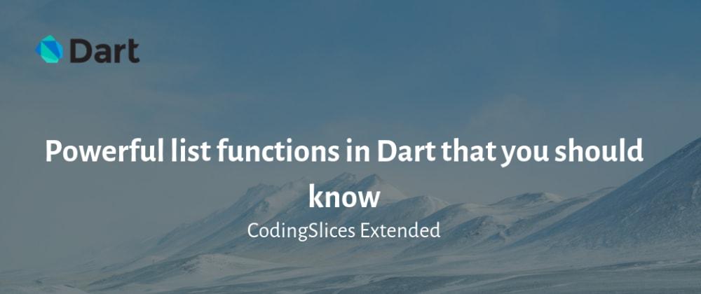 Cover image for Funciones increibles que debes conocer al trabajar con Dart