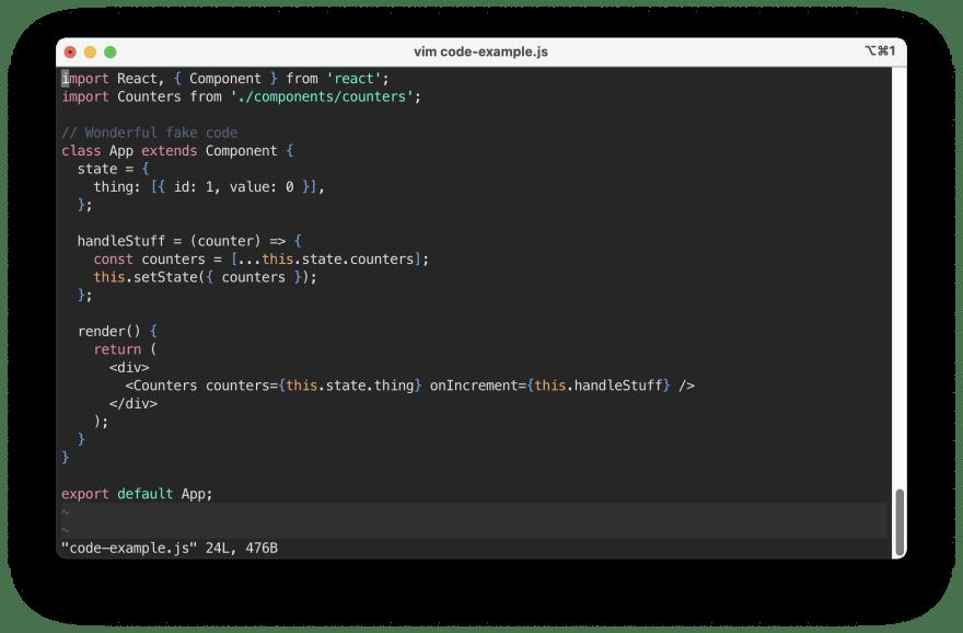 example of the Panda Syntax vim colorscheme