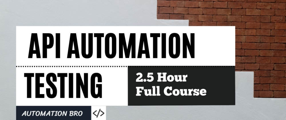 Cover image for JavaScript API Automation Testing Course