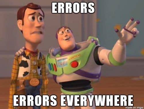 errors everywhere