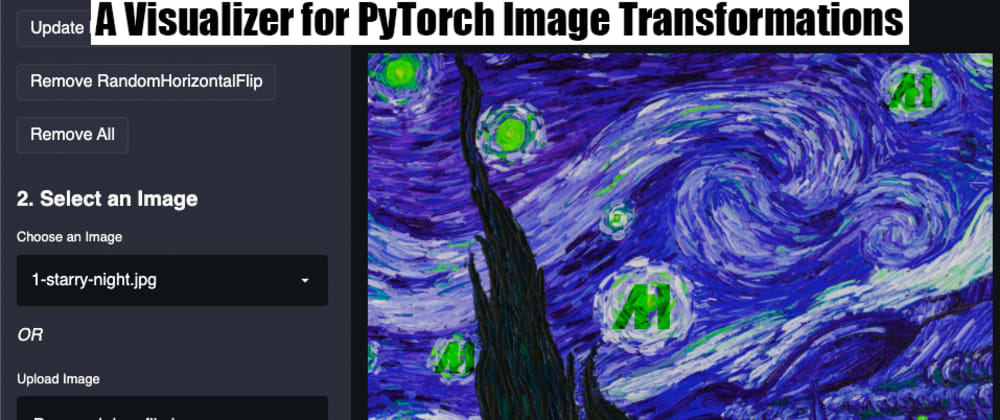 Cover image for A Visualizer for PyTorch Image Transformations