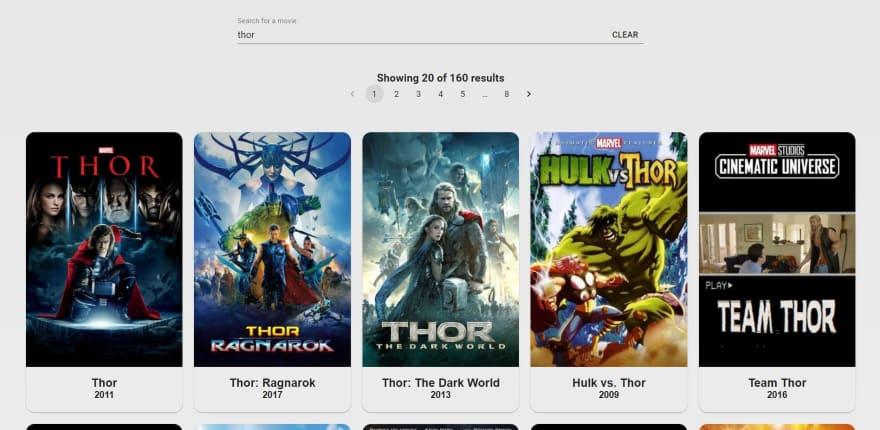MovieDex search