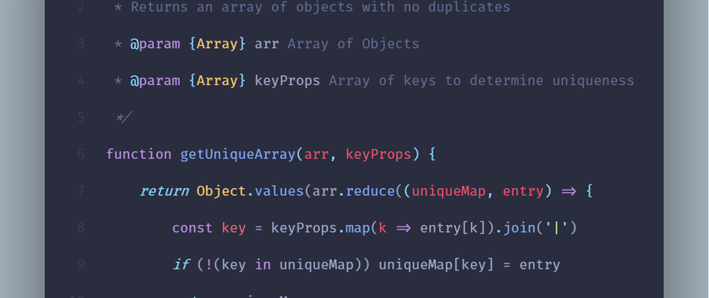 Cover image for How to remove duplicate objects from a JavaScript array