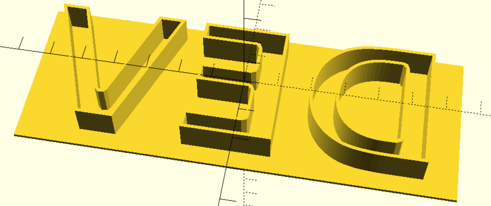 Cover image for How to Create Letter Molds and Stamps for 3D Printing on OpenScad