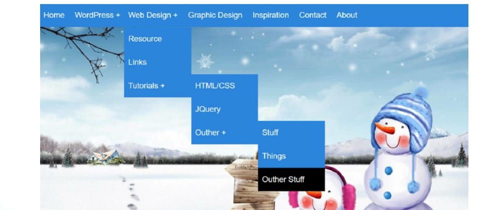 Cover image for How To Create drop-down Menu in HTML and CSS
