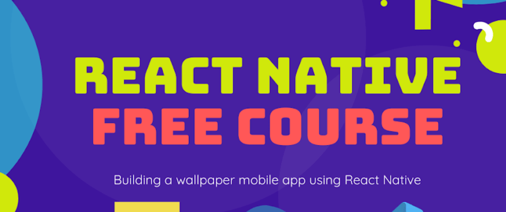 Cover image for React native wallpaper app tutorial for beginners