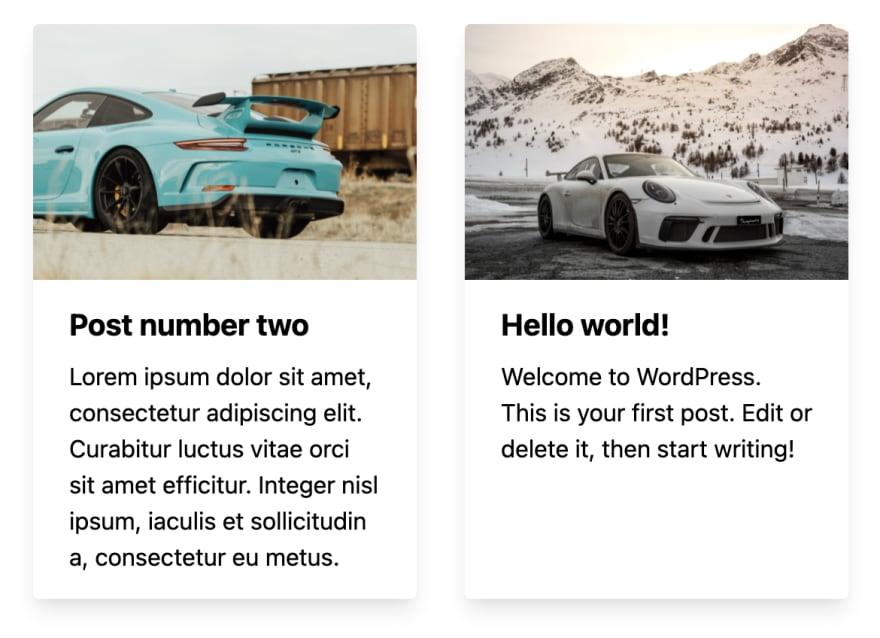 Homepage WordPress posts in Next.js