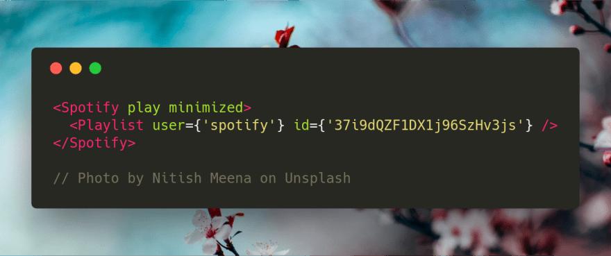 spotify code sample