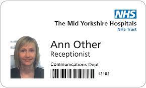 NHS Sample Identity Badge