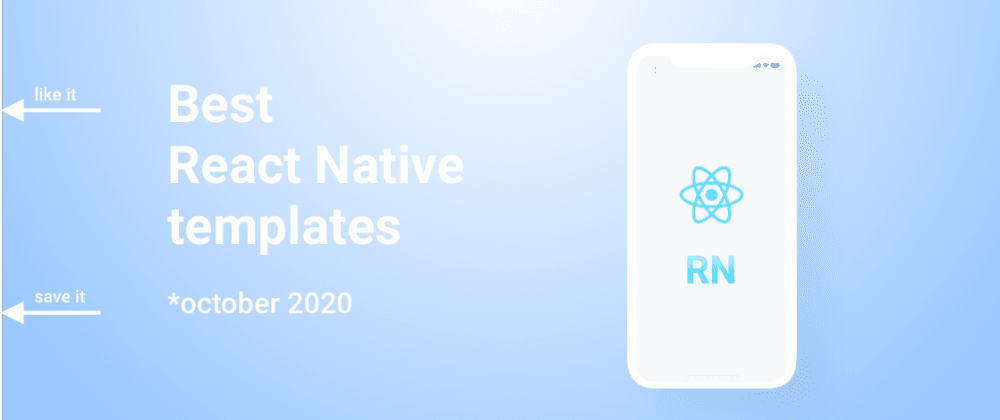 Cover image for Best react native templates 2020.