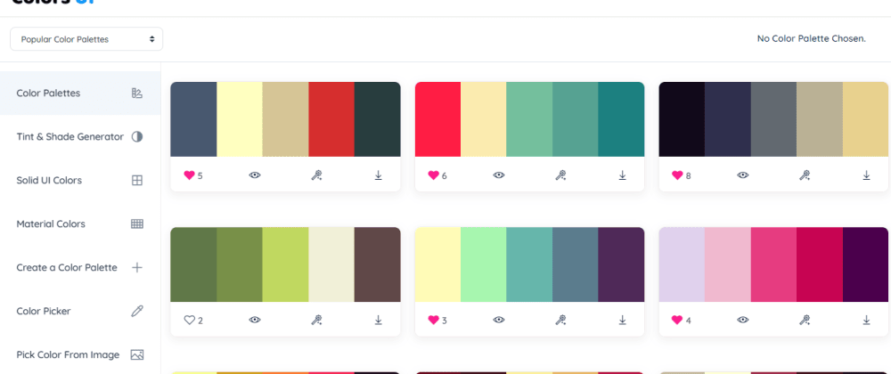 Cover image for Color Scheme Tool 🎨 Colors UI (https://colorsui.com)