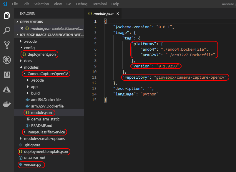 visual studio code project structure