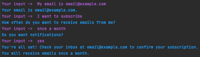 Email slot filled before form loop