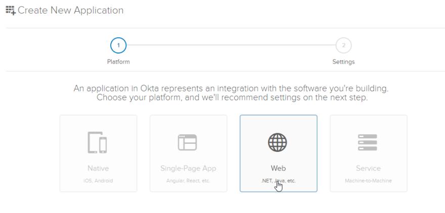 New web application