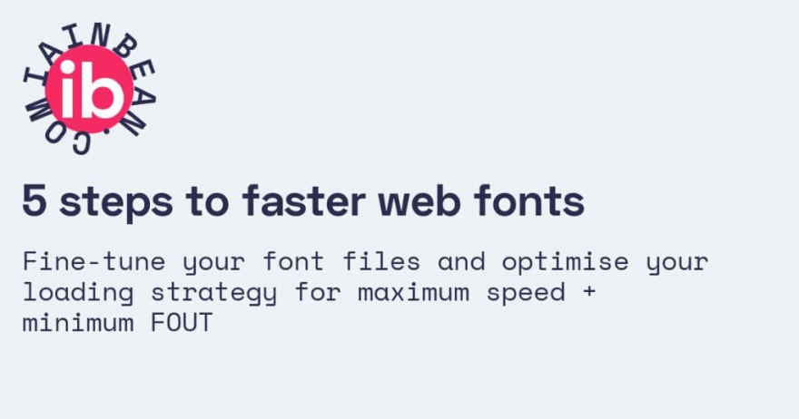 Faster web fonts