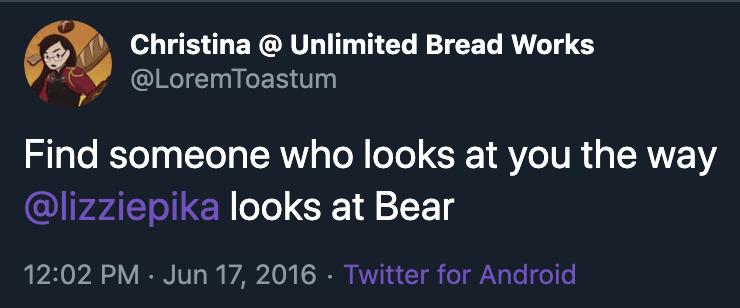 Tweet about Bear Douglas