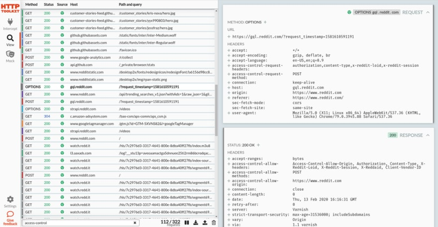 The HTTP Toolkit UI
