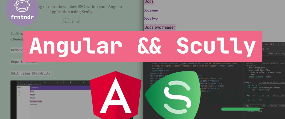 Cover image for Angular SSG using Scully (tutorial).
