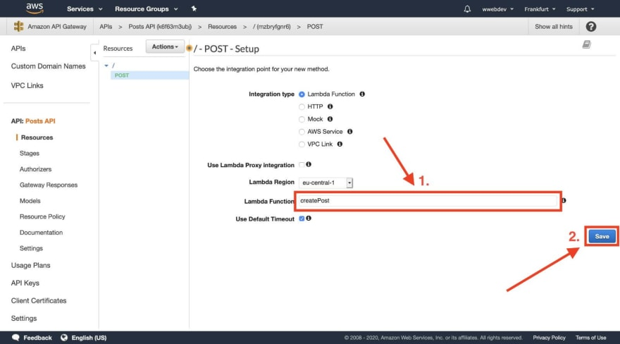 Create API Gateway Method Details