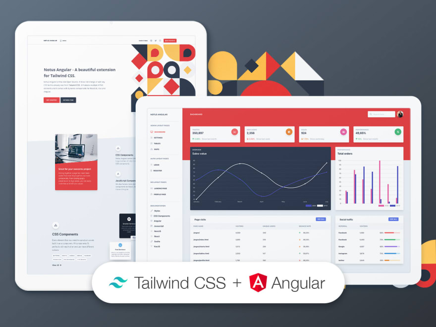 Tailwind CSS Angular - Free starter provided by Creative-Tim.