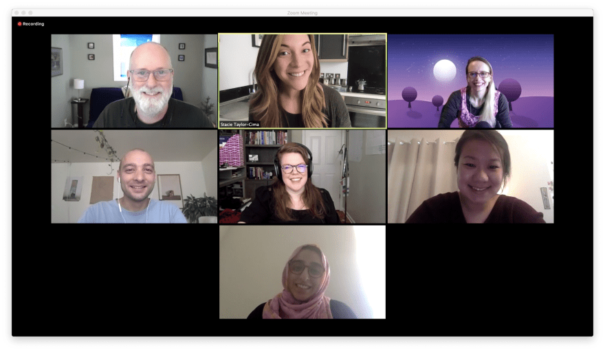 The Collab Lab Cohort 8 on a Zoom call