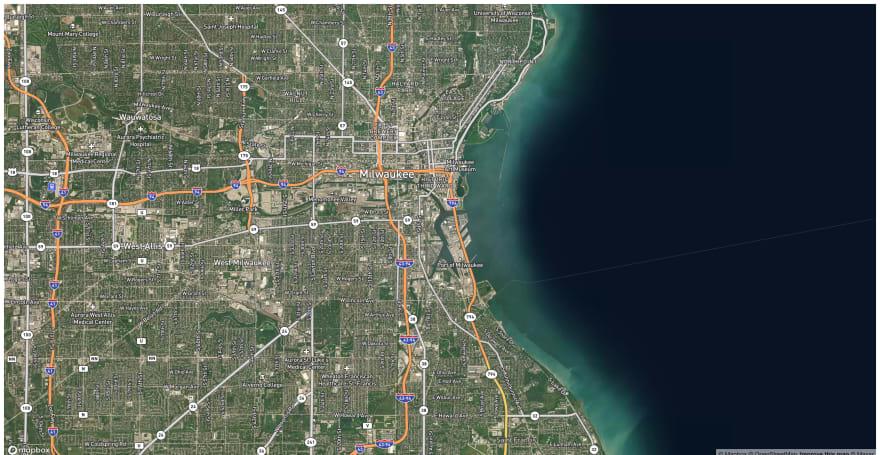 Mapbox Satellite Streets Style