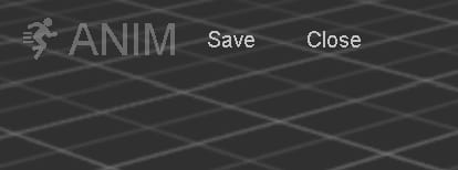 Save/close buttons in cocos animation mode
