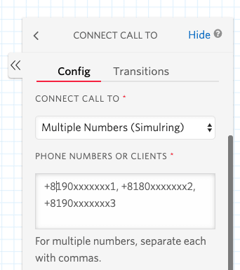 Connecting call to
