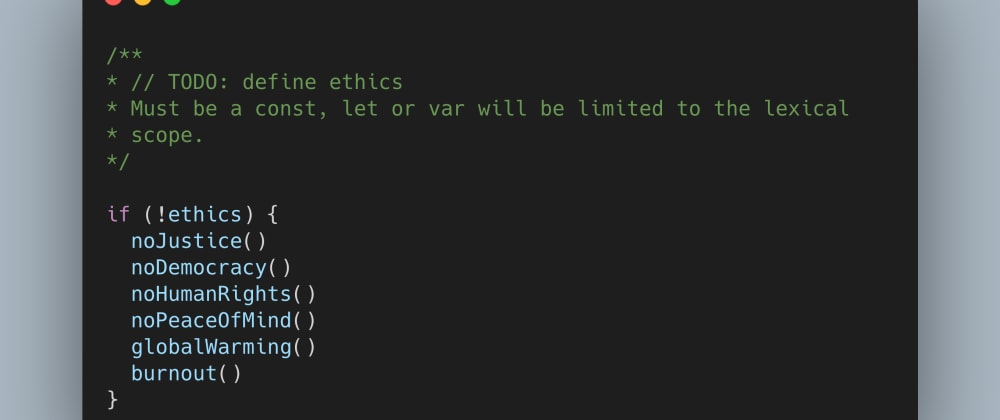 Cover image for A Developer's Code of Ethics