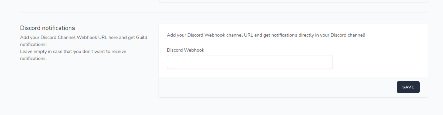 Discord Notifications Guild.so
