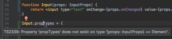 PropTypes cannot be added to plain function