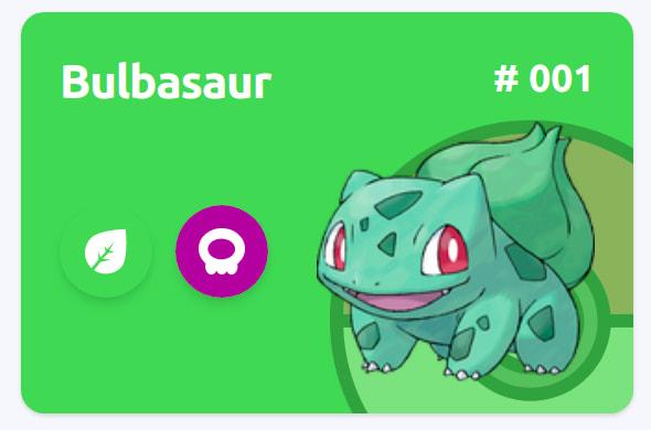 Bulbasaur Card