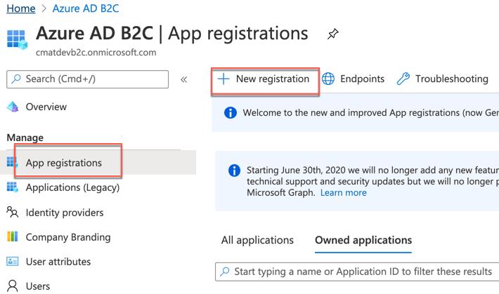Create app registration