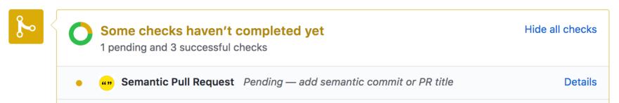 Semantic Pull Request pending