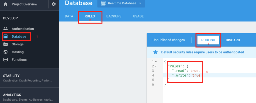 Introduction to firebase's real-time database - DEV