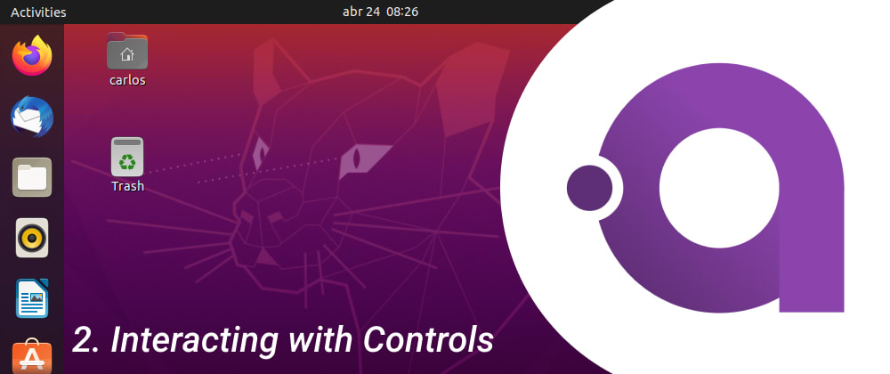 Cover image for Avalonia UI on Ubuntu: Interacting with Controls