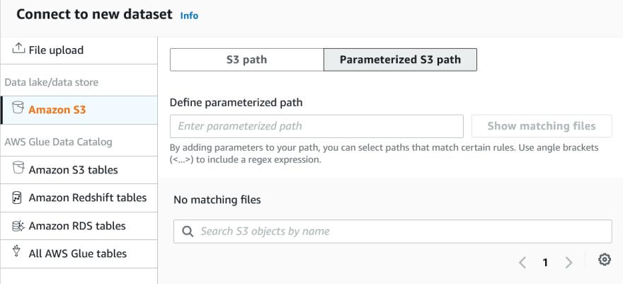DataBrew datasets