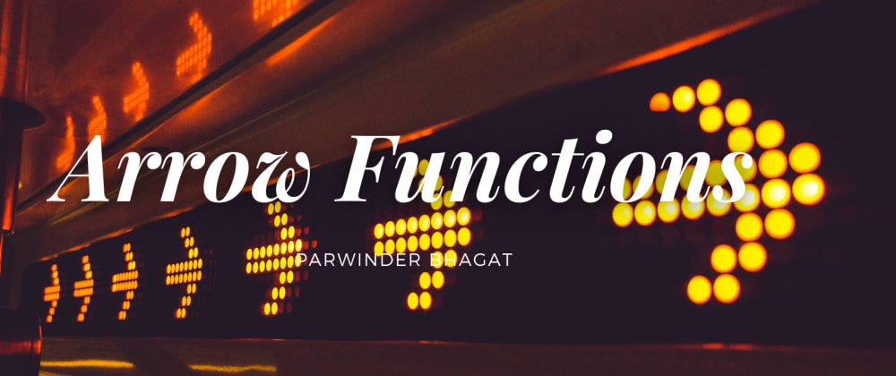 Cover image for Arrow Function: Basics