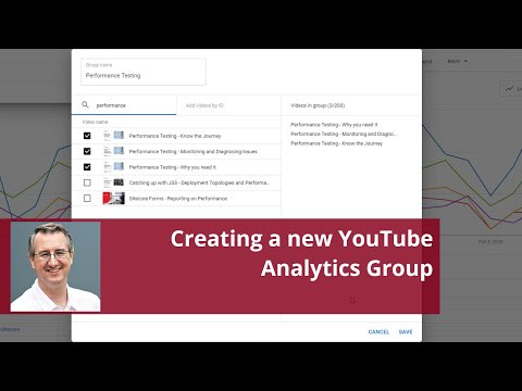 Video on Creating a new YouTube analytics group