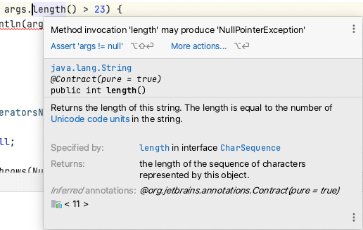 Using IntelliJ Inspections